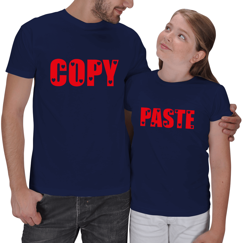Copy - Paste Baba Kız T-shirt Kombini