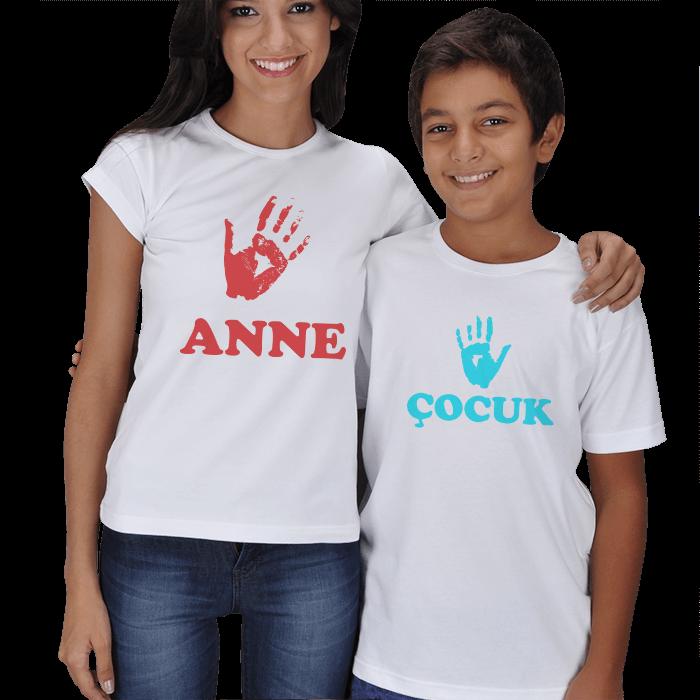 Anne Çocuk El İzi Tişörtleri