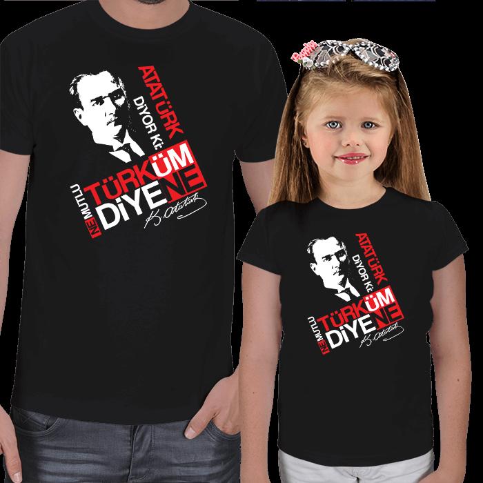 Atatürk Diyor Ki Baba Çocuk Tişört