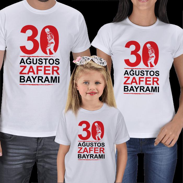 30 Ağustos Anne Baba Çocuk Tişörtleri