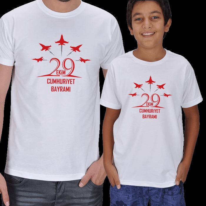 29 Ekim Baba ve Çocuk Tişörtleri