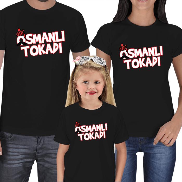 Osmanlı Tokadı Anne Baba Çocuk Tişört