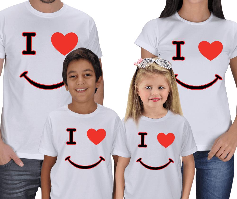 Seni Seviyorum Anne Baba Çocuk Tişörtleri