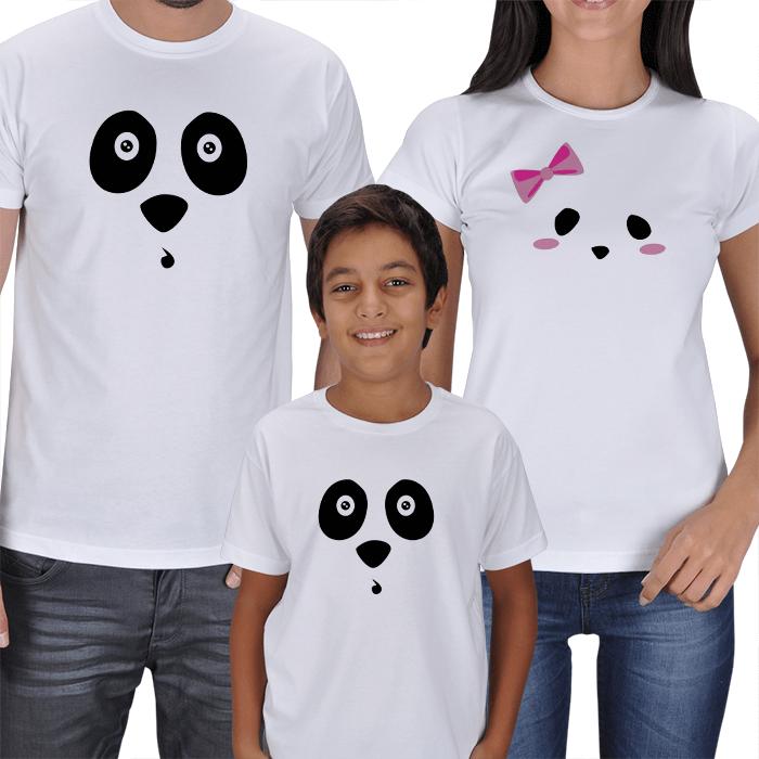 Sevimli Anne Baba Erkek Çocuk 3lü Tişörtler
