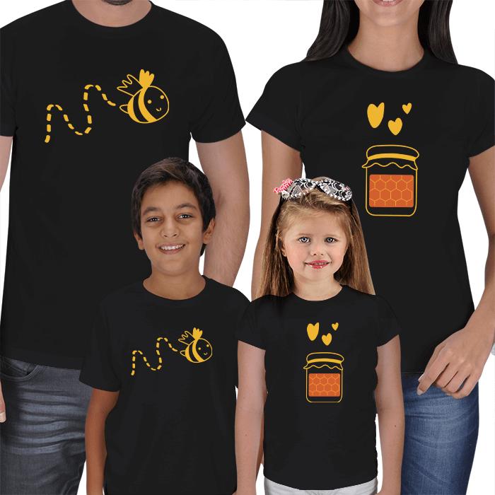 Arım Balım 4lü Aile Tişört Kombini