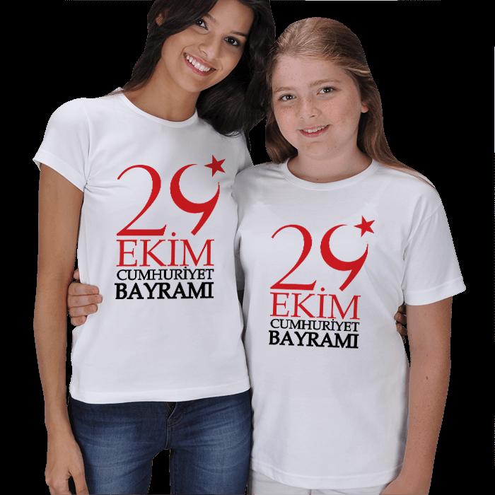 29 Ekim Anne Kız Tişörtleri