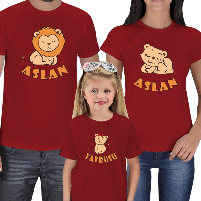 Aslan Ailesi 3lü Tişört Kombini