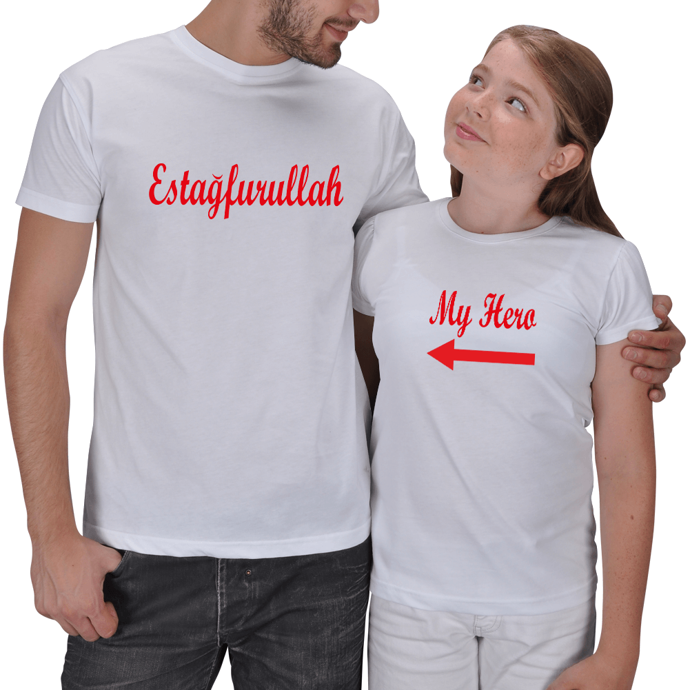 My Hero Baba - Kız Çocuk T-shirtleri