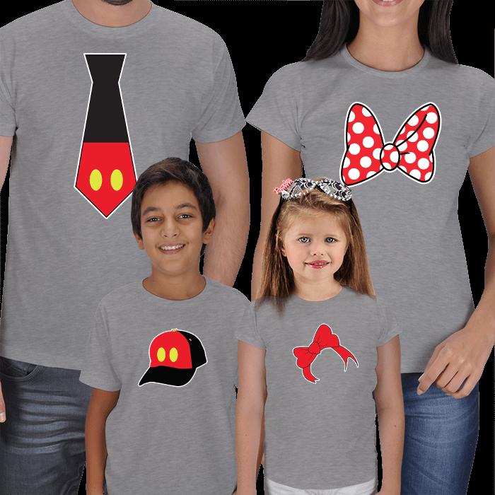Disney  4lü Aile Tişörtleri
