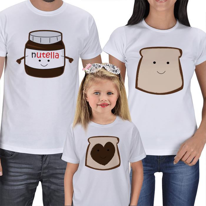 Nutella 3lü Aile Tişörtü