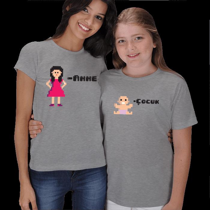 Pixelart Anne Kız Tişört Kombinleri