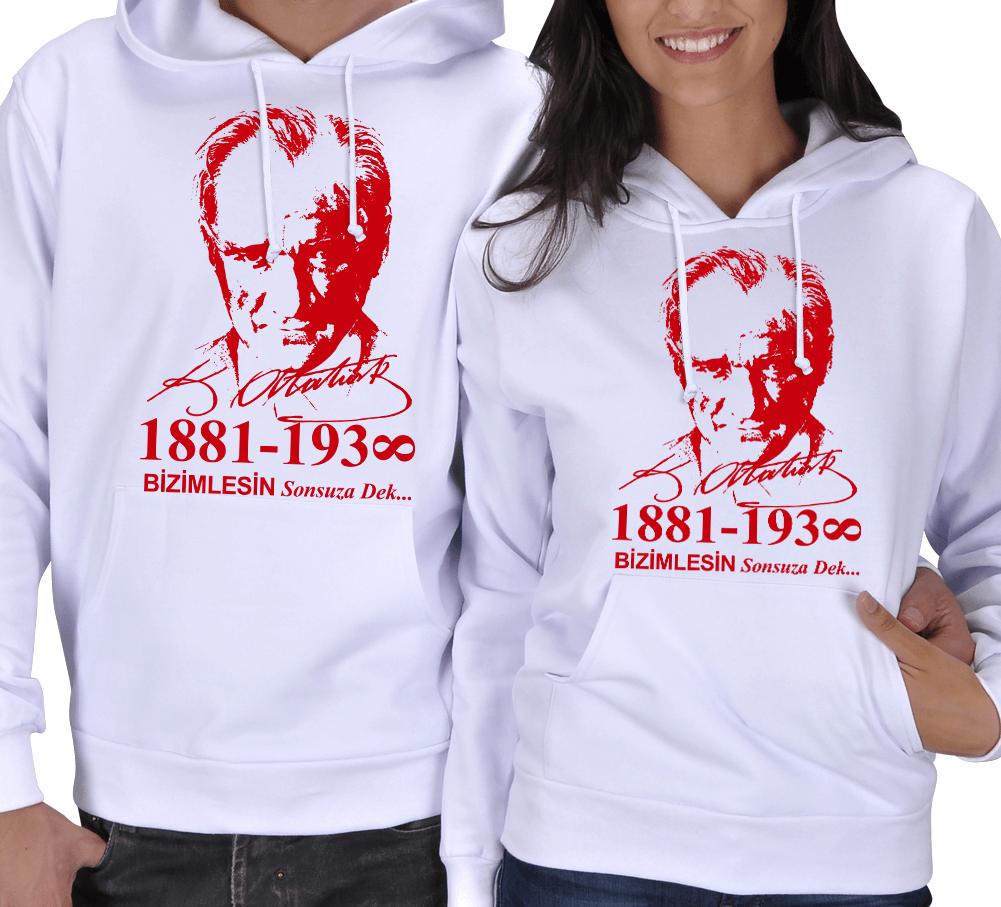 Atatürk Baskılı Kışlık Sevgili Kombini