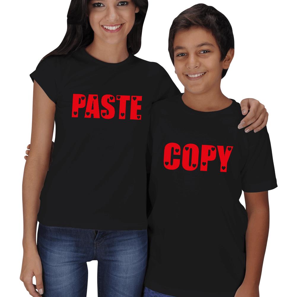 Copy Paste Anne Erkek Çocuk Aile Tişört Hediyesi