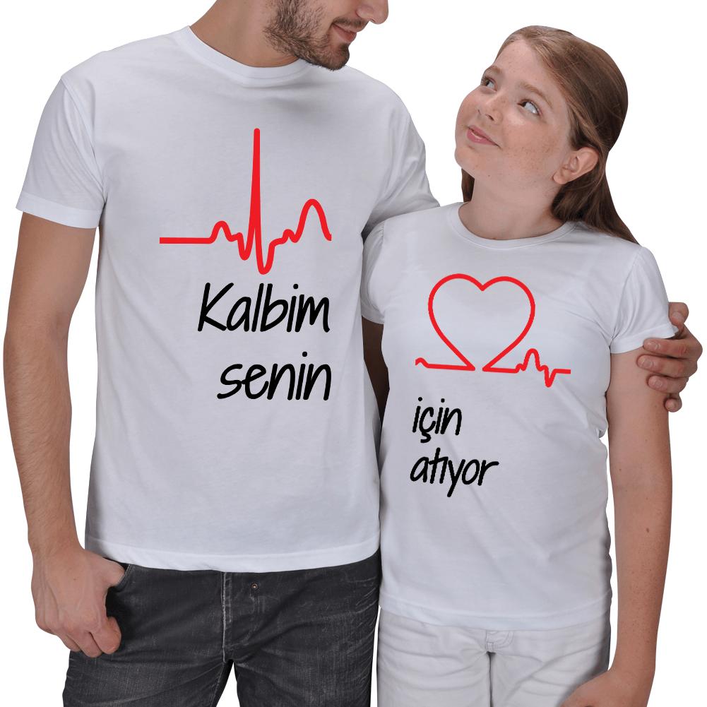 Kalbim Senin İçin Atıyor Baba Kız Tişört