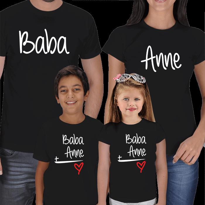 Anne Baba Erkek Çocuk 4lü Kombin Tişörtler