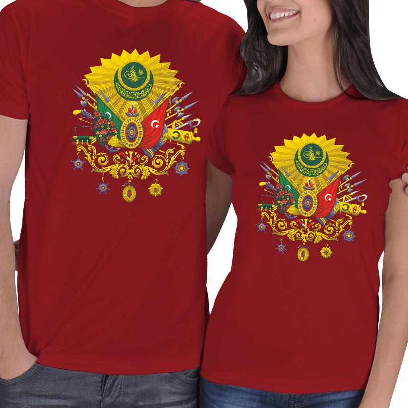Kişiye Özel Osmanlı Armalı Sevgili Tişört Kombini