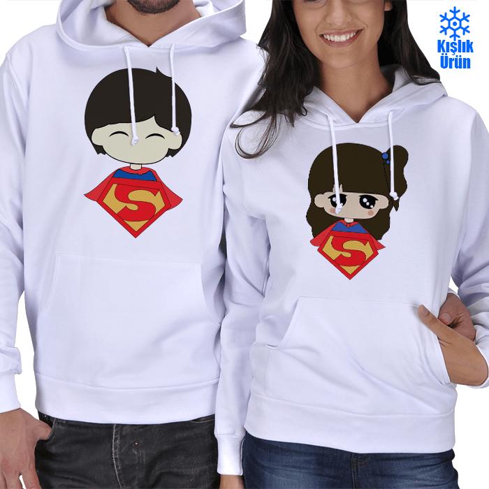 Superman ve Superwoman Kışlık Sevgili Kombini