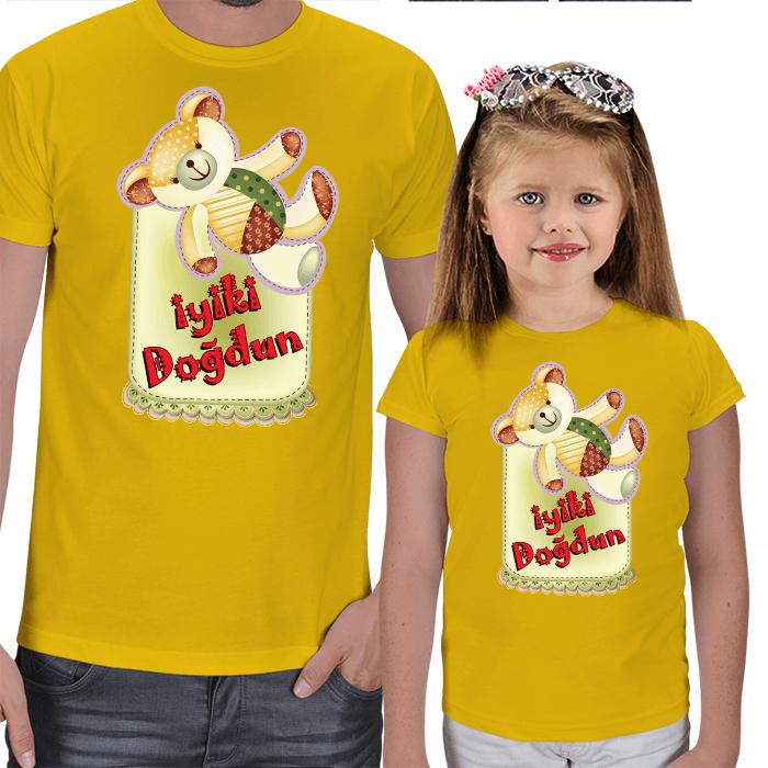 İyi ki Doğdun Baba - Kız Tişört Kombinleri
