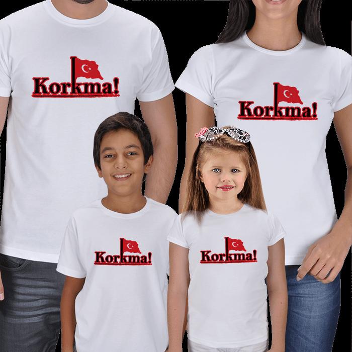 Korkma! Anne Baba Çocuk Tişörtleri