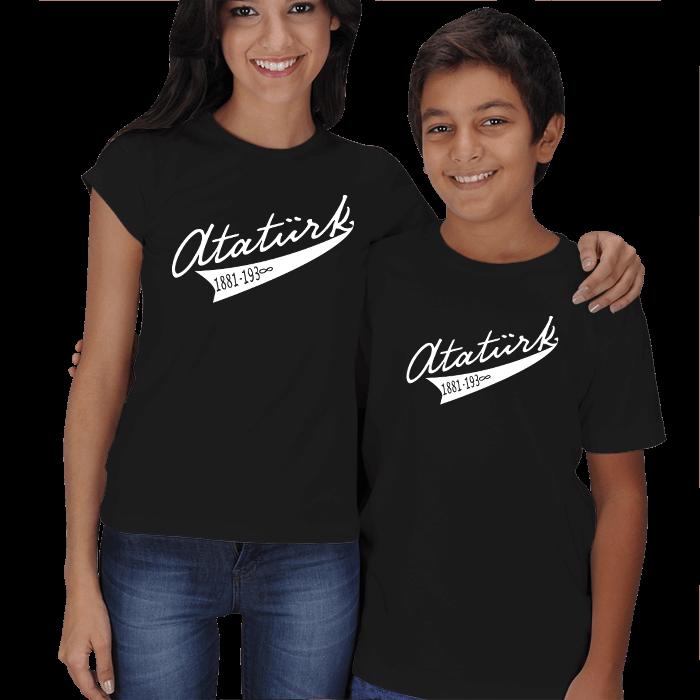 Atatürk Yazılı Anne Çocuk Tişörtleri