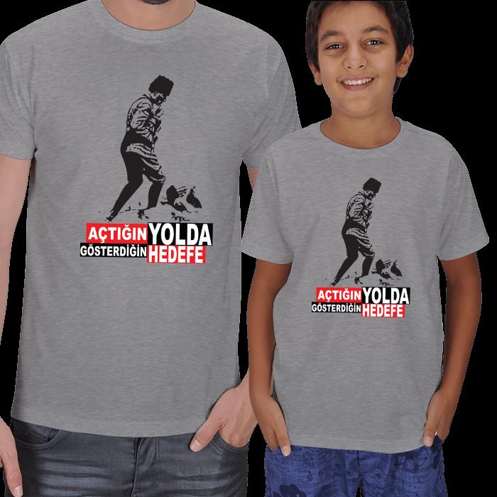 Atatürk Baskılı Baba Çocuk Tişörtleri