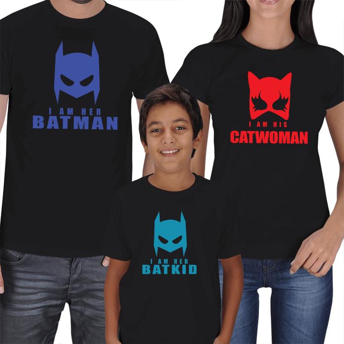 Batman - Catwoman - Batkid Tişört Kombini