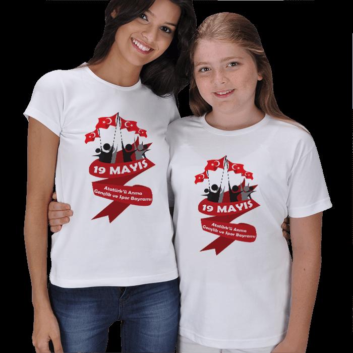 19 Mayıs Anne Çocuk Tişörtleri