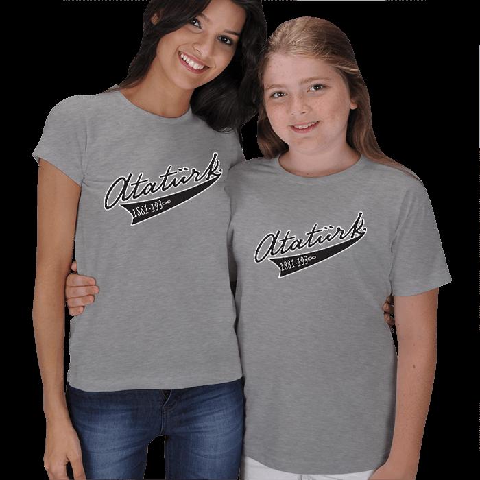 Atatürk Baskılı Anne Çocuk Tişörtleri