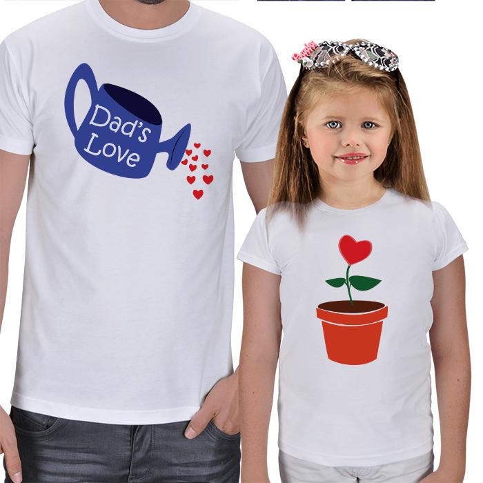 Büyüyen Sevgi Baba Kız Tişört Kombini