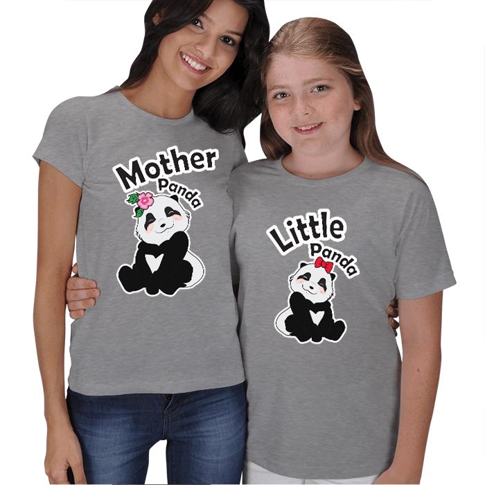 Panda Anne-Panda Çocuk Tişört Kombinleri