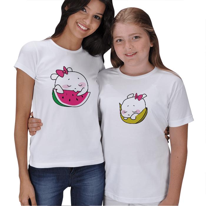 Sevimli Meyveler Anne Kız Çocuk Tişörtleri