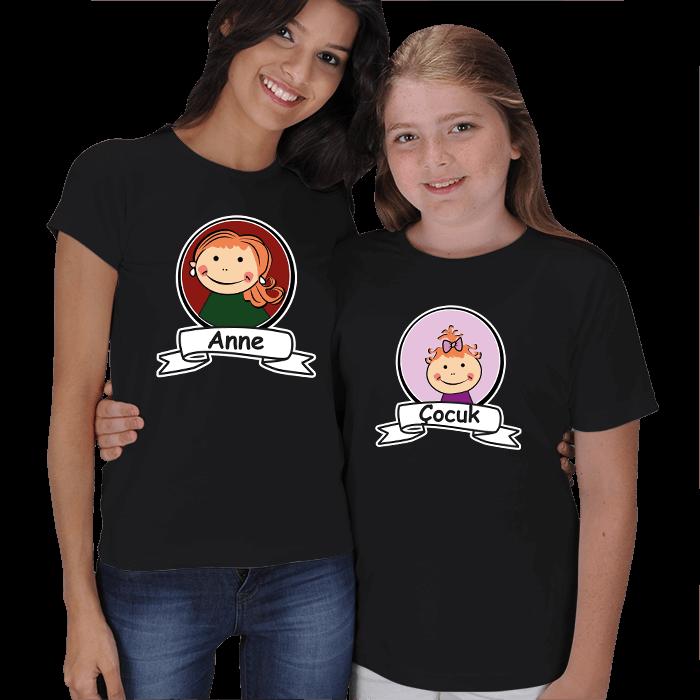 Anne-Çocuk Resimli Kombin Tişörtler