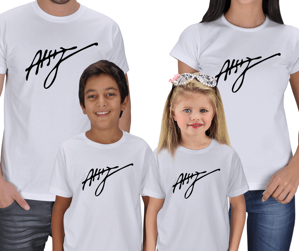 Atsız İmzalı Anne Baba Çocuk Tişörtleri
