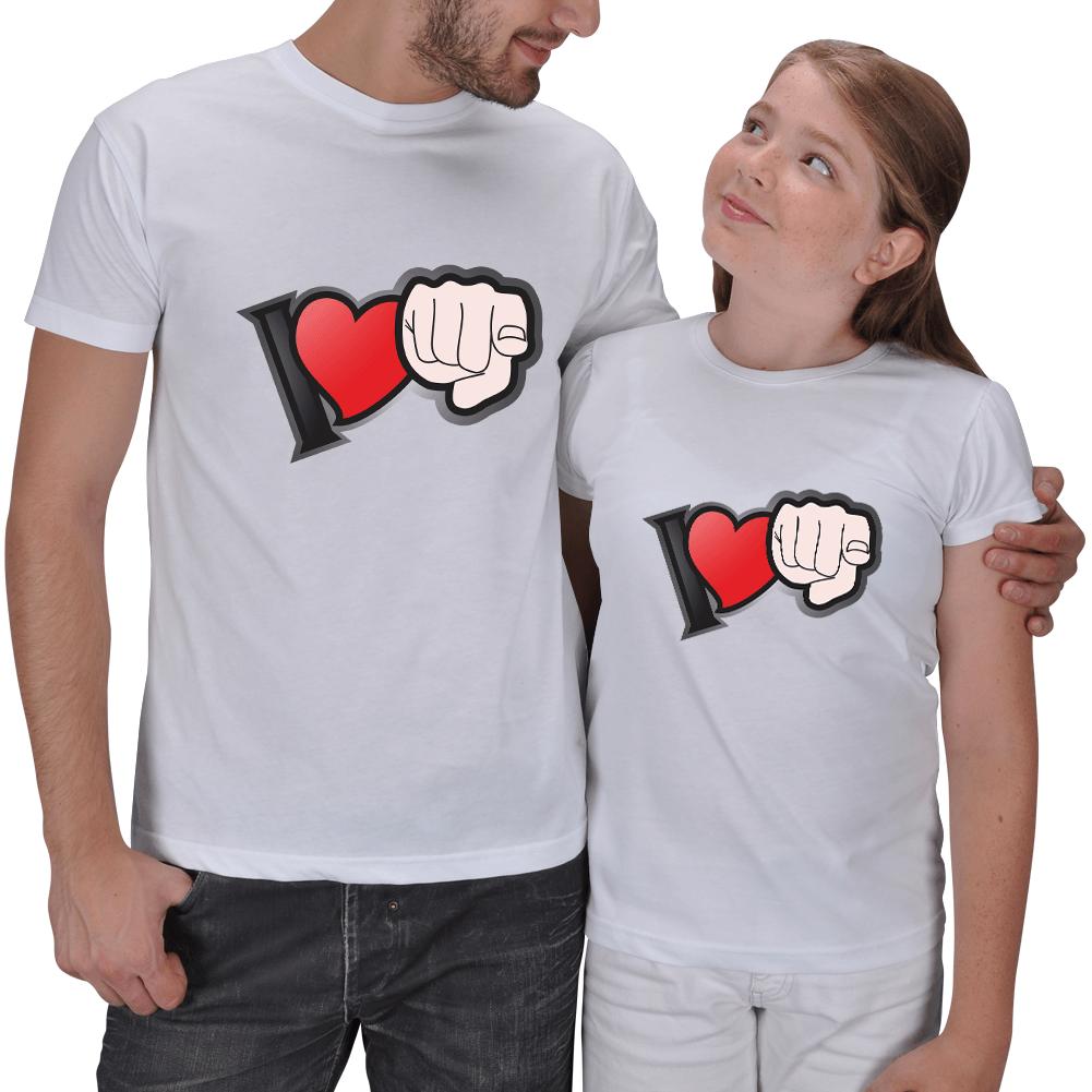 Seni Seviyorum Baba Kız Çocuk Tişört Hediyeleri
