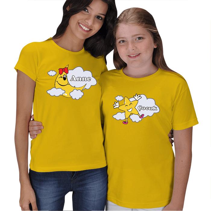 Anne Kız Kombin Tişörtler