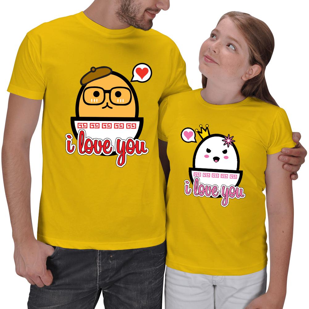 Şirin Yumurtalar Baba - Kız Tişörtleri