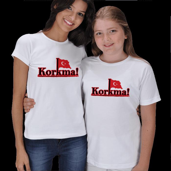 Korkma! Anne Çocuk Tişörtleri