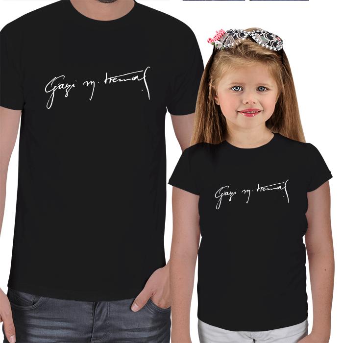 Gazi Mustafa Kemal İmzalı Baba Kız Tişörtleri