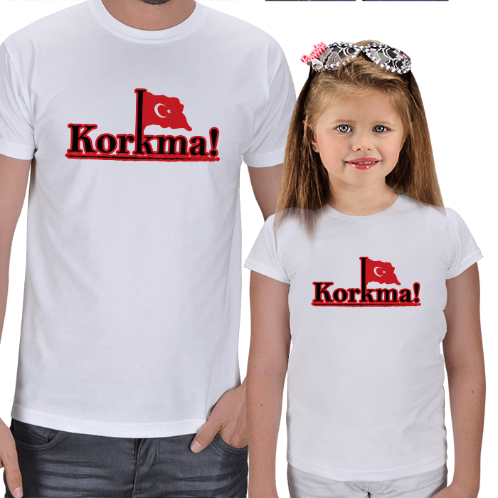 Korkma! Baba ve Çocuk Tişörtleri