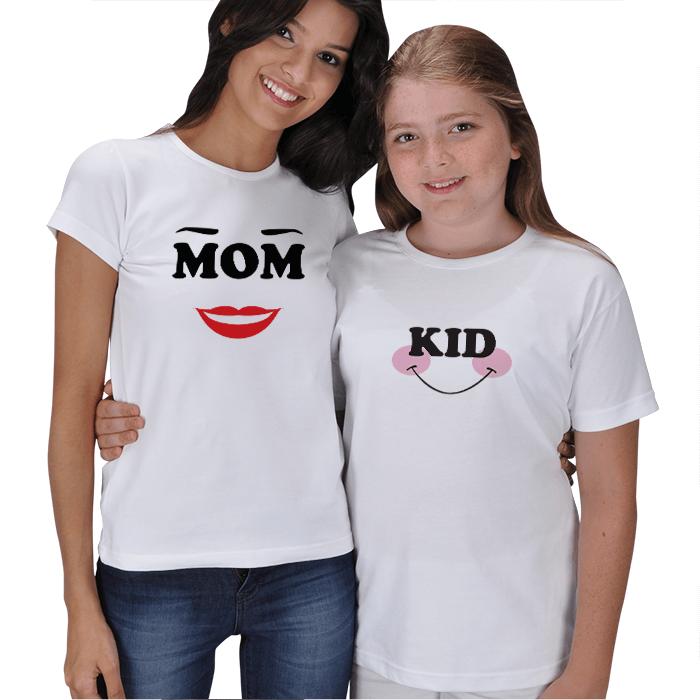 Anne Kız Çocuk Tişört Kombini