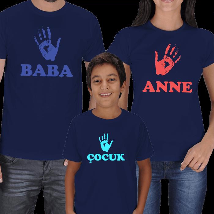 Anne Baba Çocuk Kısa Kollu Tişört Kombinleri