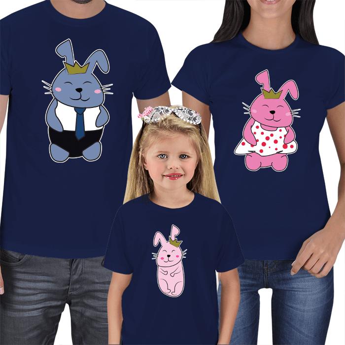 Sevimli Tavşanlar 3lü T-shirt Kombinleri