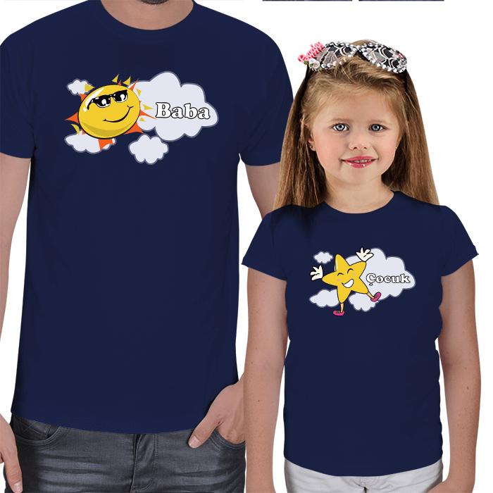 Güneş ve Yıldız Baba Çocuk Tişörtleri