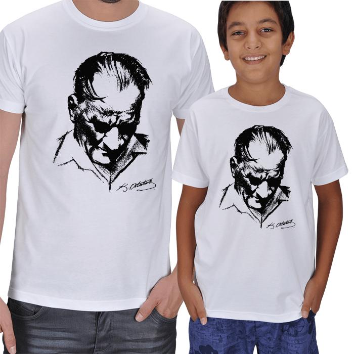 Atatürk Baskılı Baba Oğul Tişörtler
