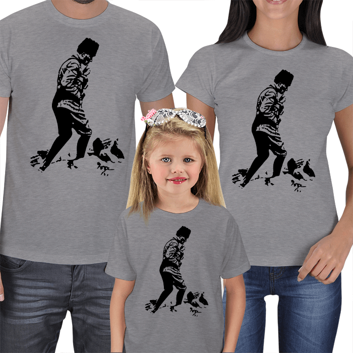 Atatürk Baskılı Aile Tişörtleri