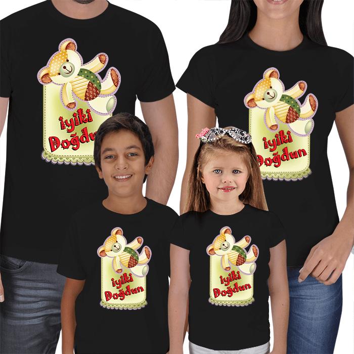 İyi ki Doğdun 4lü Aile Tişörtleri