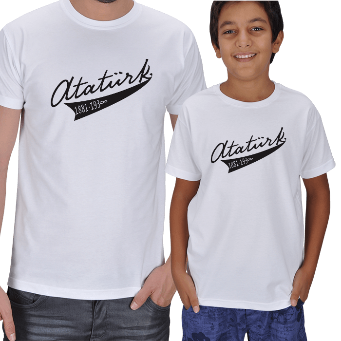Baba Oğul 2li Atatürk Tişörtleri