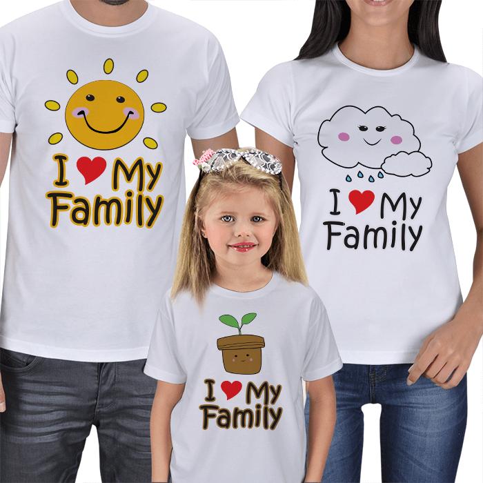I Love My Family T-shirts