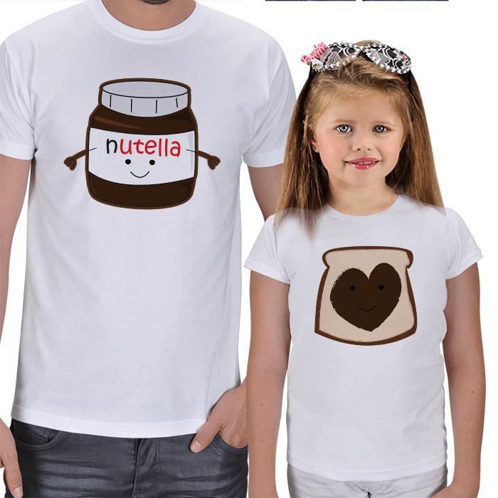 Nutella - Baba ve Kız Çocuk Tişört Seti