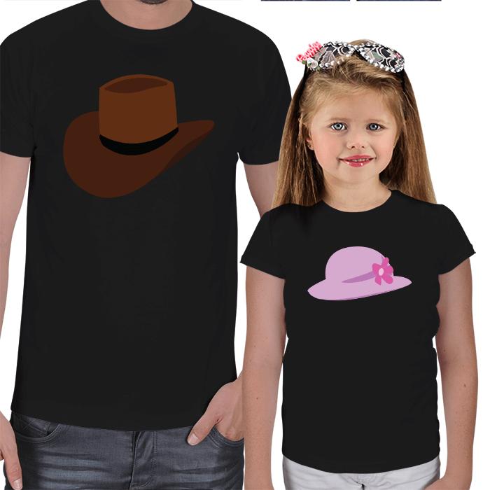 Baba Kız Birbiriyle Uyumlu Tişörtler